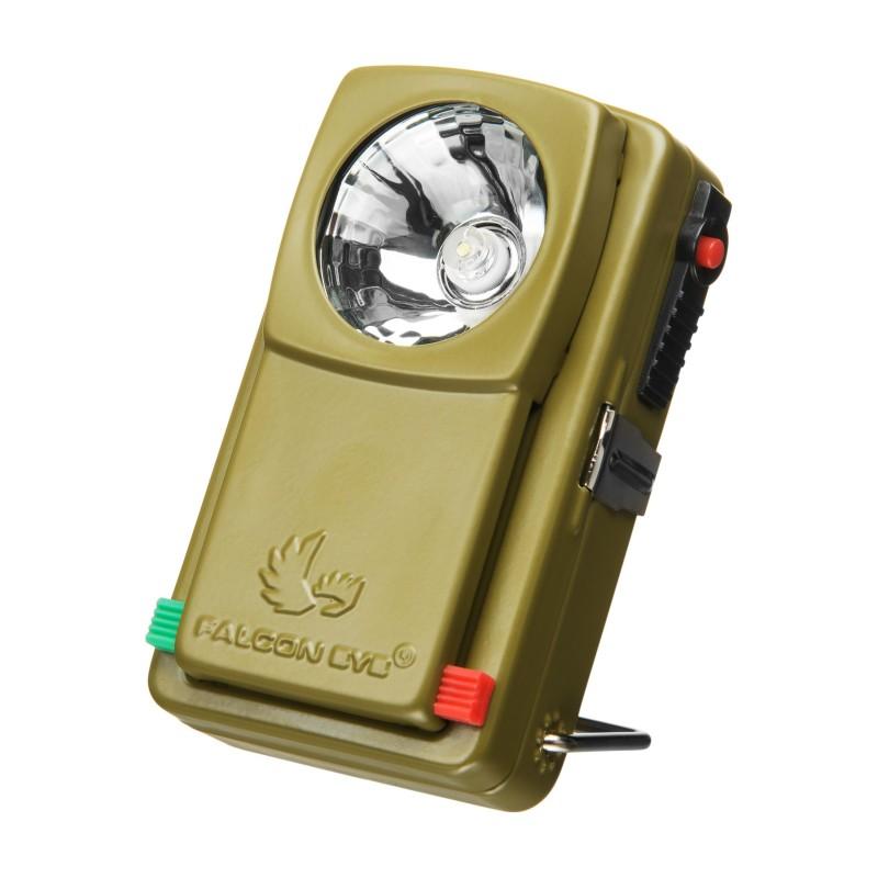 Latarka diodowa 3 kolory światła, 1x3R12 Falcon Eye