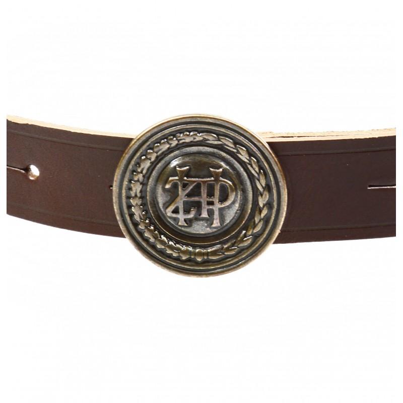 Skórzany pas harcerski ZHP brązowy