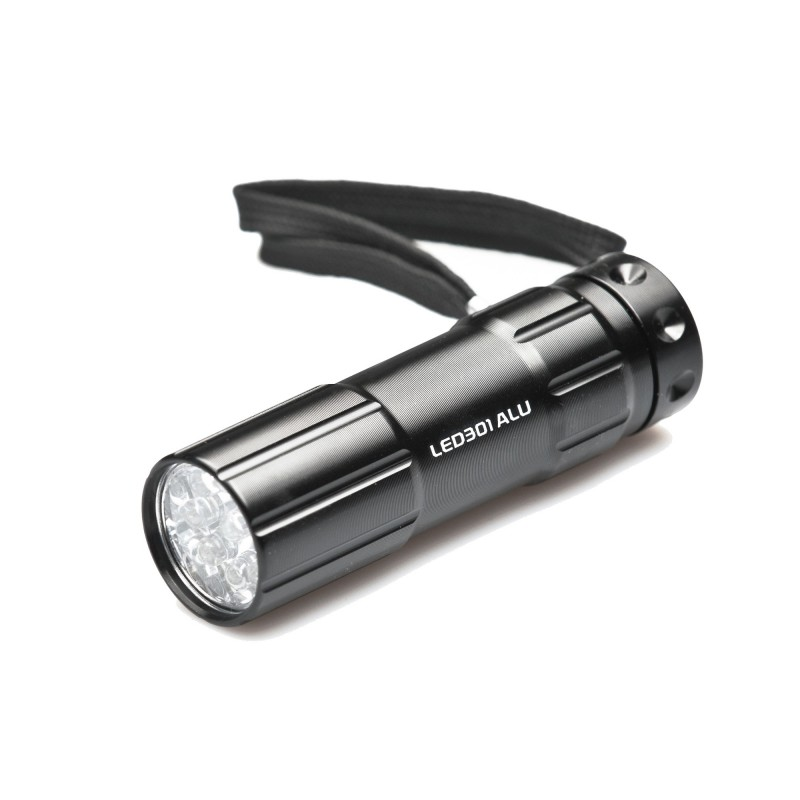 Aluminiowa latarka 9 LED 301ALU Falcon Eye