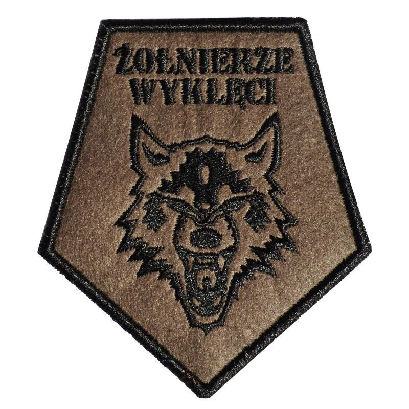 Plakietka Haasta Haft Żołnierze Wyklęci Wilk