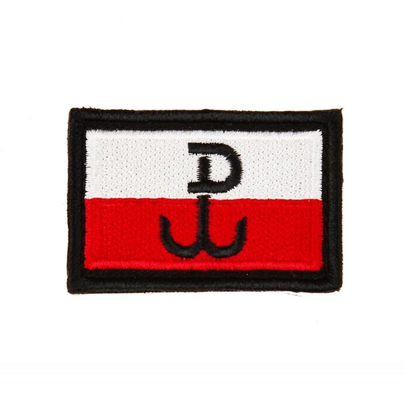 Plakietka Haasta Haft Flaga Polski B/Cz PW Rzep