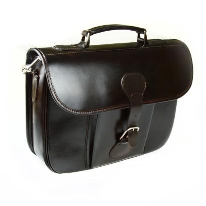 Skórzana torba szwajcarska brązowa