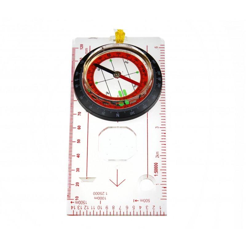 Kompas kartograficzny z linijką do Mapy