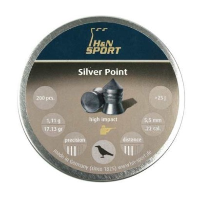 Śrut diabolo H&N Silver Point kal. 5.5 mm