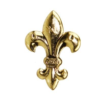 Lilijka harcerska ZHR złota z bolcami