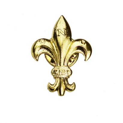 Lilijka harcerska ZHR złota na zatrzask
