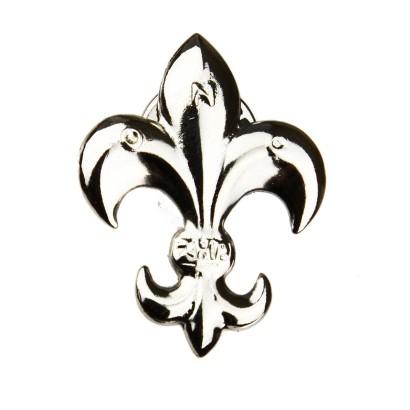 Lilijka harcerska ZHP srebrna na zatrzask