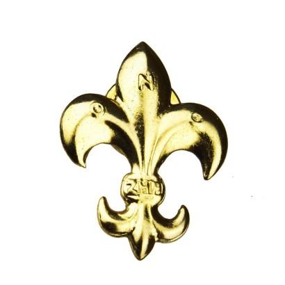 Lilijka harcerska ZHP złota na zatrzask