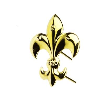 Lilijka harcerska ZHP złota z bolcami