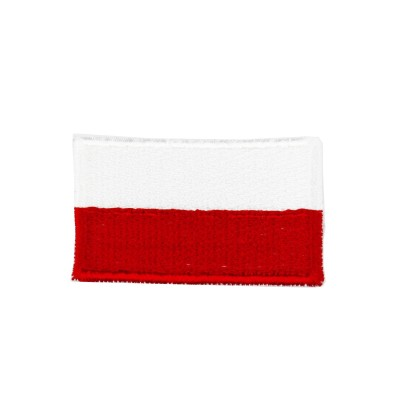 Plakietka flaga Polski Biało-Czerwono